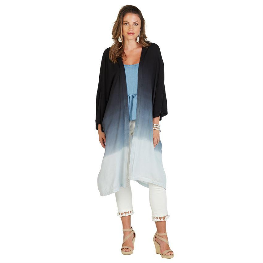 Mud Pie Johanna Tie Dye Kimono-Mud Pie-BeautyOfASite | Beauty, Fashion & Gourmet Boutique