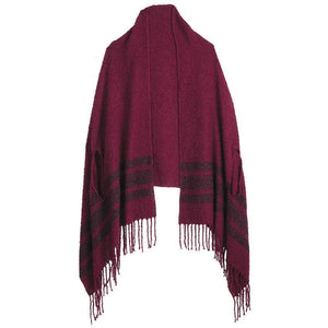 Mud Pie Lexington Chenille Scarf Wrap - Pinot-Mud Pie-BeautyOfASite | Beauty, Fashion & Gourmet Boutique