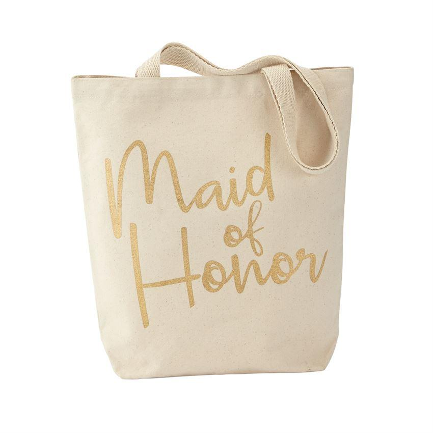 Mud Pie Maid of Honor Canvas Tote-Mud Pie-BeautyOfASite | Beauty, Fashion & Gourmet Boutique