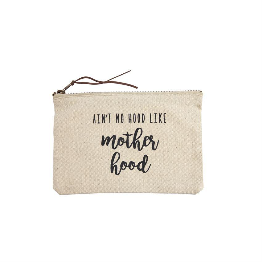 Mud Pie Medium Canvas Zipper Pouch - Motherhood-Mud Pie-BeautyOfASite | Beauty, Fashion & Gourmet Boutique