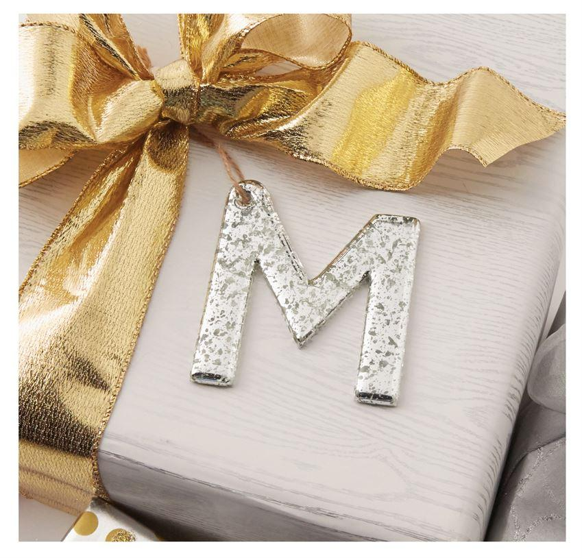 Mud Pie Mercury Glass Initial Hanger-Mud Pie-BeautyOfASite | Beauty, Fashion & Gourmet Boutique