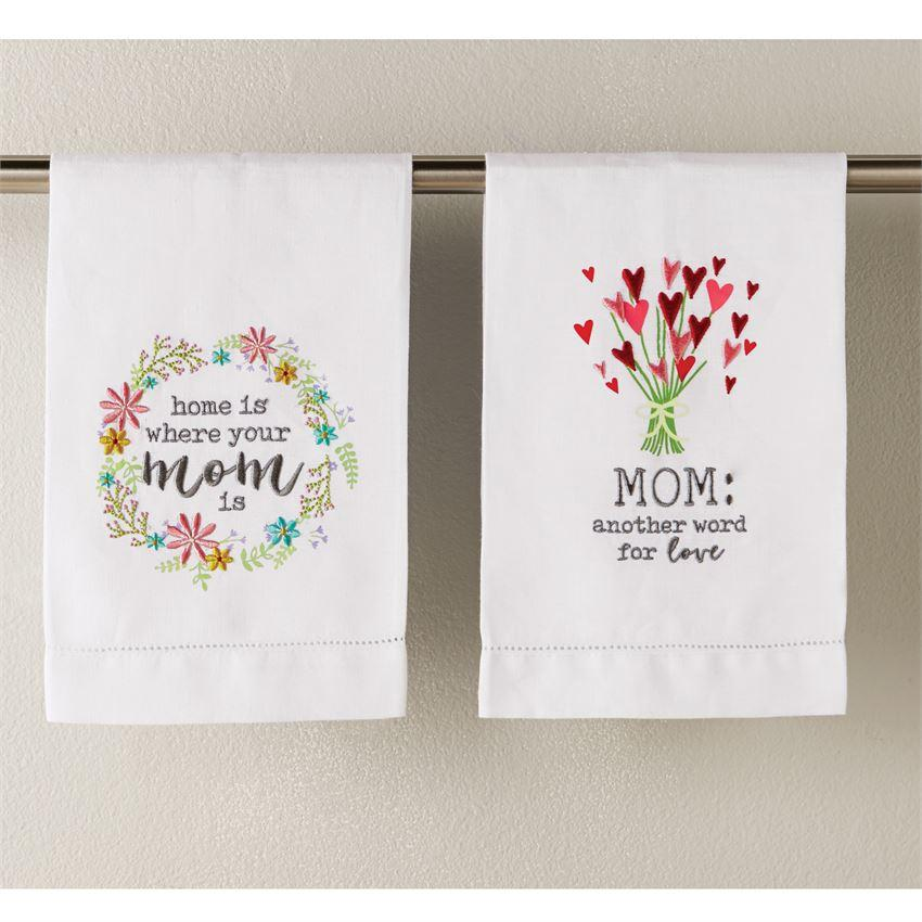 Mud Pie Mom Towels-Mud Pie-BeautyOfASite | Beauty, Fashion & Gourmet Boutique