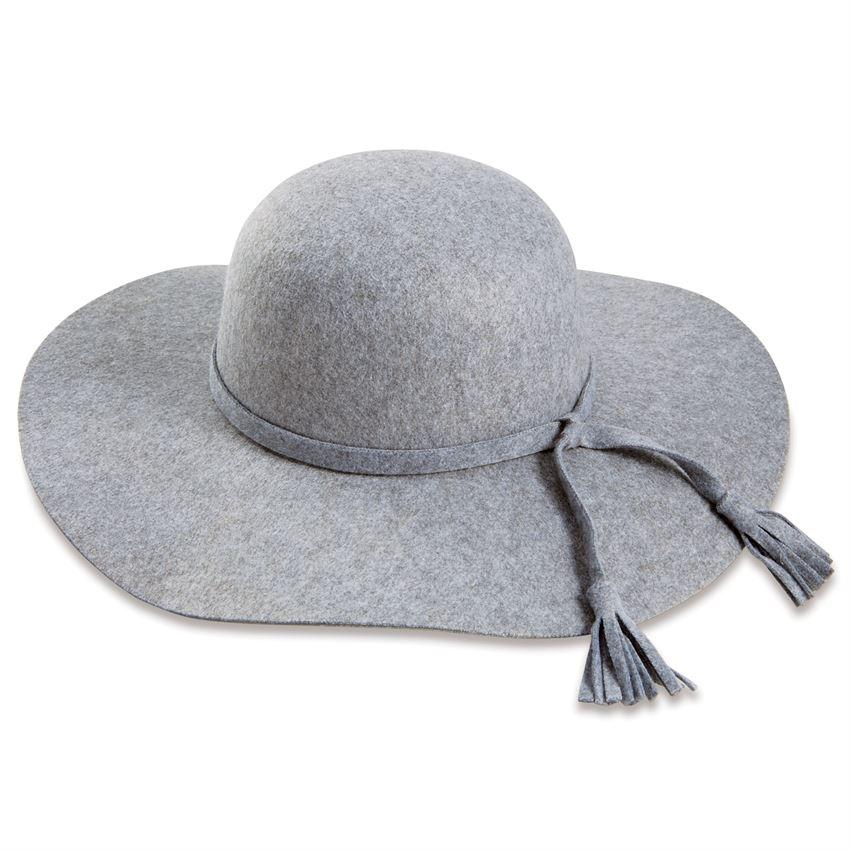 Mud Pie Montana Wide Brim Felt Hat - Gray-Mud Pie-BeautyOfASite | Beauty, Fashion & Gourmet Boutique