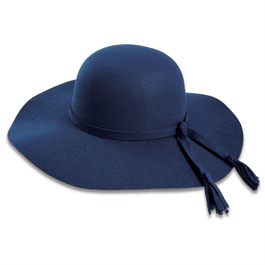 Mud Pie Montana Wide Brim Felt Hat - Navy-Mud Pie-BeautyOfASite | Beauty, Fashion & Gourmet Boutique