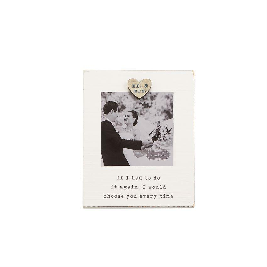 Mud Pie Mr. & Mrs. Magnetic Frame-Mud Pie-BeautyOfASite | Beauty, Fashion & Gourmet Boutique