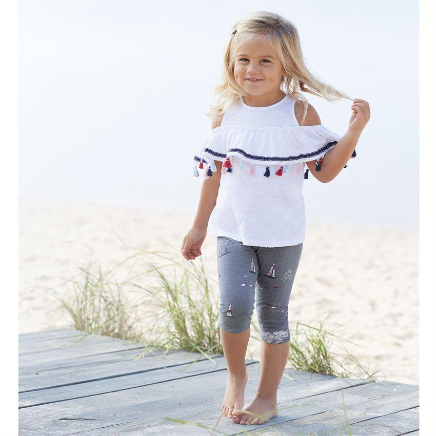 Mud Pie Sailboat Print Tassel Tunic & Legging Set-Mud Pie-BeautyOfASite | Beauty, Fashion & Gourmet Boutique