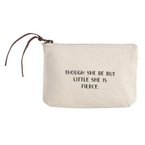 Mud Pie Small Canvas Zipper Pouch-Mud Pie-BeautyOfASite | Beauty, Fashion & Gourmet Boutique