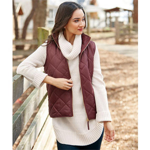 Mud Pie Spencer Quilted Vest - Burgundy-Mud Pie-BeautyOfASite | Beauty, Fashion & Gourmet Boutique