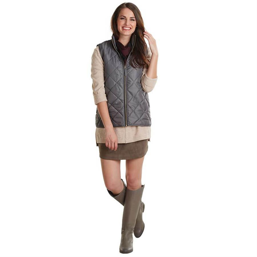 Mud Pie Spencer Quilted Vest - Gray-Mud Pie-BeautyOfASite | Beauty, Fashion & Gourmet Boutique