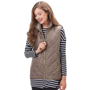 Mud Pie Spencer Quilted Vest - Olive-Mud Pie-BeautyOfASite | Beauty, Fashion & Gourmet Boutique