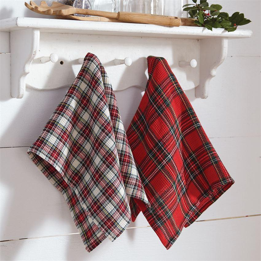 Mud Pie Tartan Dish Towel Set-Mud Pie-BeautyOfASite | Beauty, Fashion & Gourmet Boutique