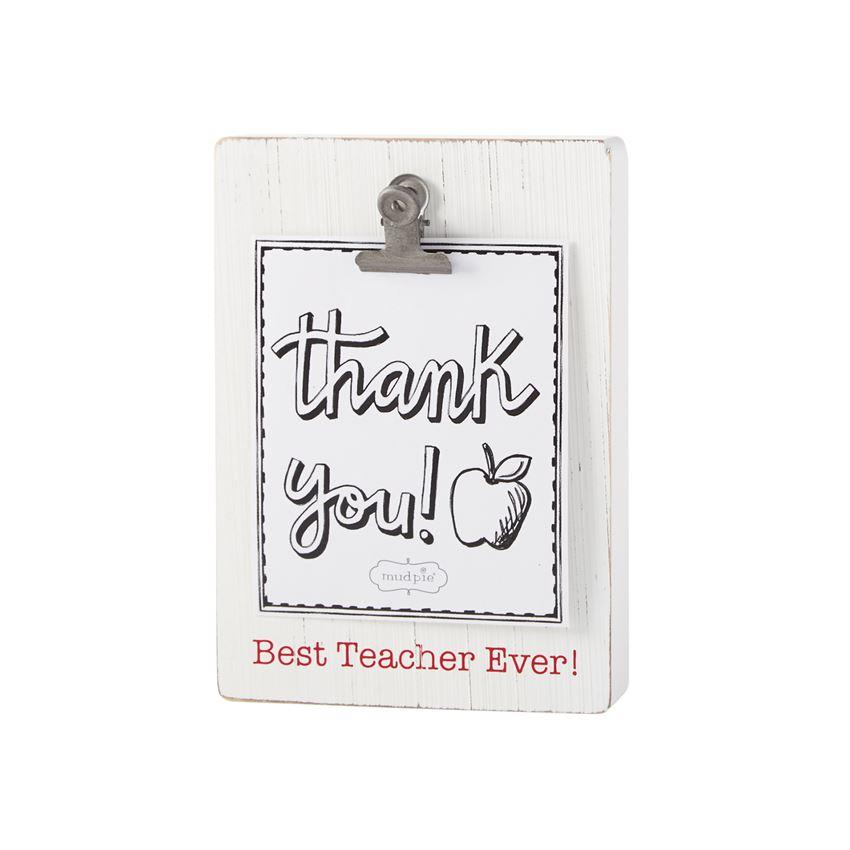Mud Pie Teacher Binder Clip Frame-Mud Pie-BeautyOfASite | Beauty, Fashion & Gourmet Boutique
