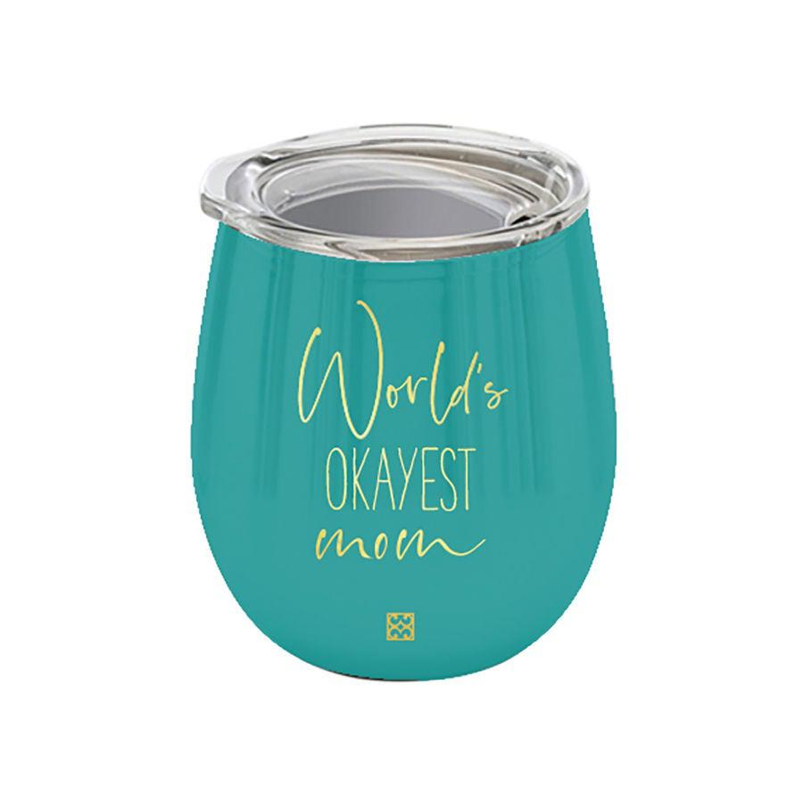 World's Okayest Mom Stainless Steel Drink Tumbler