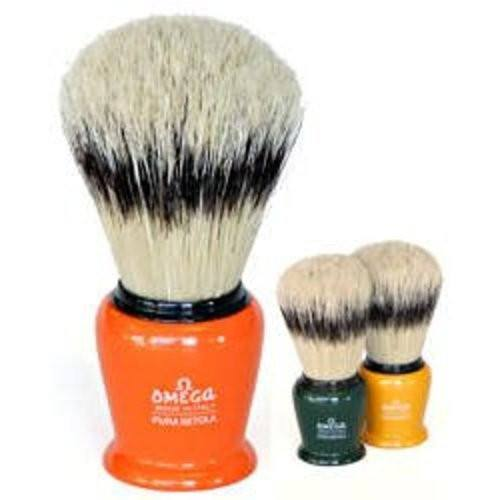 Omega Plastic Handle Natural Bristle Shave Brush with Holder (Assorted Colors)-Omega-BeautyOfASite | Beauty, Fashion & Gourmet Boutique