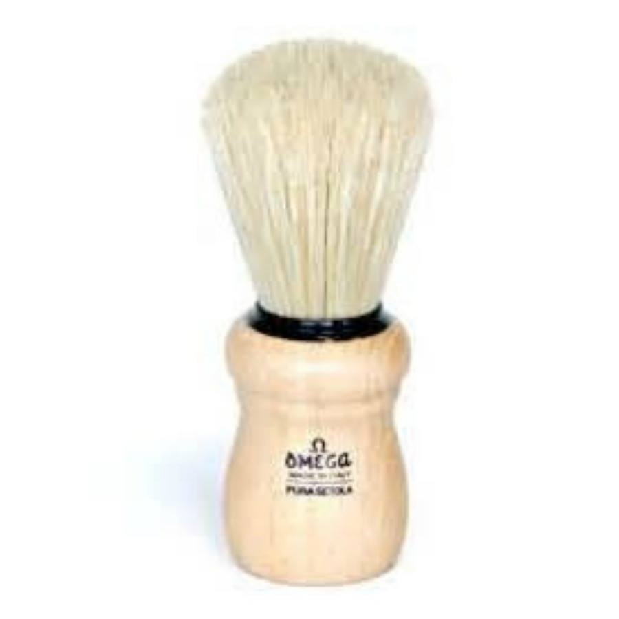 Omega Wood Handle Natural Bristle Shave Brush-Omega-BeautyOfASite | Beauty, Fashion & Gourmet Boutique
