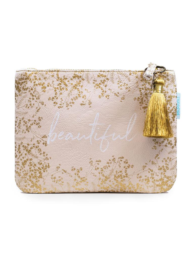 Papaya Art Quartz Gilded Flowers Pocket Clutch-PAPAYA!-BeautyOfASite | Beauty, Fashion & Gourmet Boutique