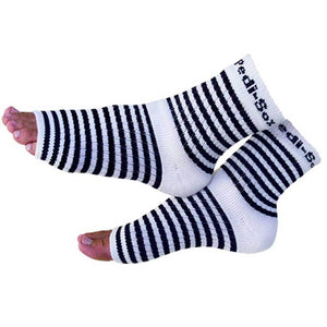 Pedi-Sox Black Striped Pedicure Socks - Classics Collection-Original Pedi-Sox-BeautyOfASite | Beauty, Fashion & Gourmet Boutique