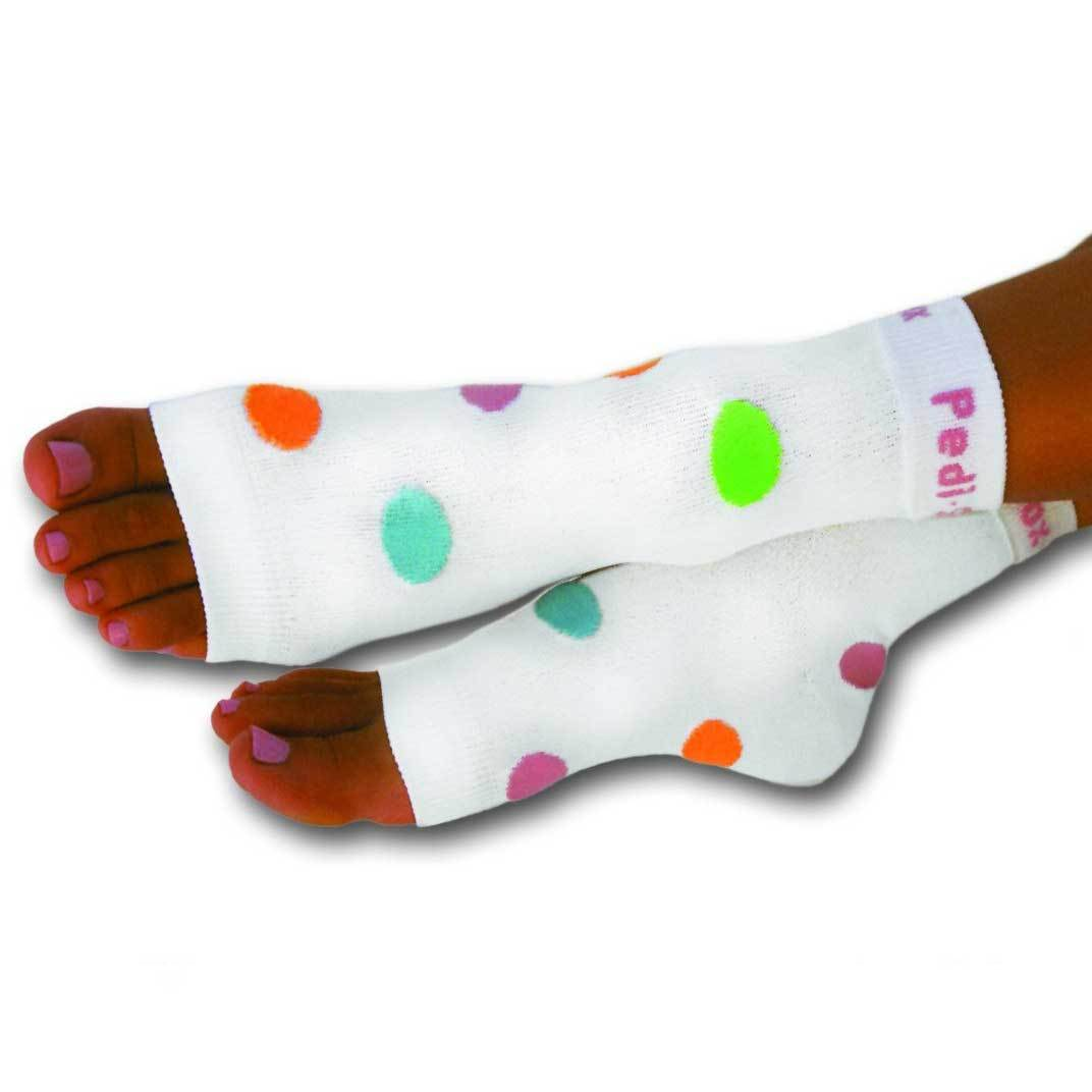 Pedi-Sox Color Polka-Dot Pedicure Socks - California Lite Weight-Original Pedi-Sox-BeautyOfASite | Beauty, Fashion & Gourmet Boutique
