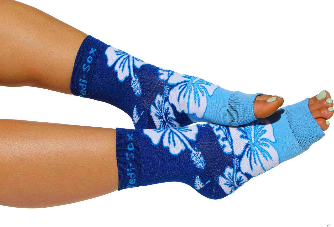 Pedi-Sox Hawaii Blue Pedicure Socks - Ultra Collection-Original Pedi-Sox-BeautyOfASite | Beauty, Fashion & Gourmet Boutique