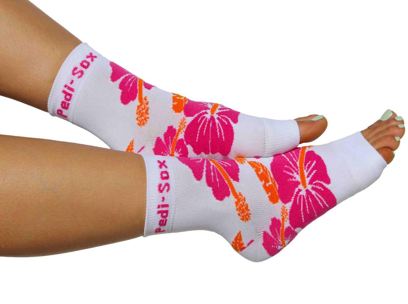 Pedi-Sox Hawaiian Lei Pink & Orange Pedicure Socks - Ultra Collection-Original Pedi-Sox-BeautyOfASite | Beauty, Fashion & Gourmet Boutique
