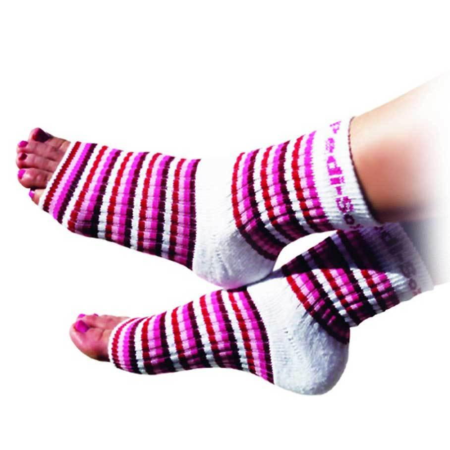 Pedi-Sox Pink Multi Striped Pedicure Socks - Classics Collection-Original Pedi-Sox-BeautyOfASite | Beauty, Fashion & Gourmet Boutique