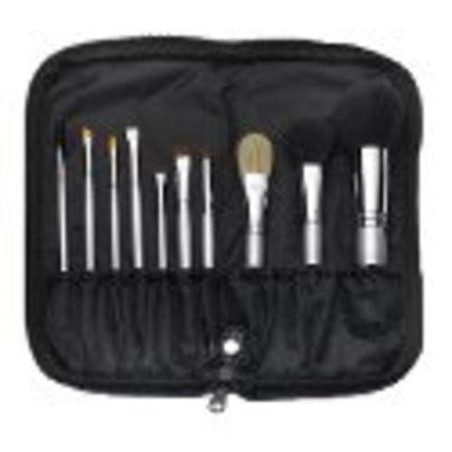 Qe Silver Professional Brush Set-Qe-BeautyOfASite | Beauty, Fashion & Gourmet Boutique