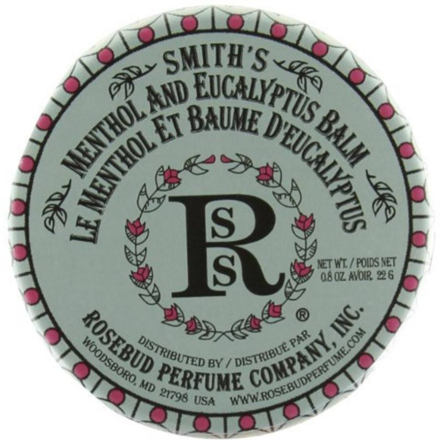 Rosebud Perfume Co Smith's Menthol and Eucalyptus Lip Balm - 0.8 oz-Rosebud Perfume Co.-BeautyOfASite | Beauty, Fashion & Gourmet Boutique
