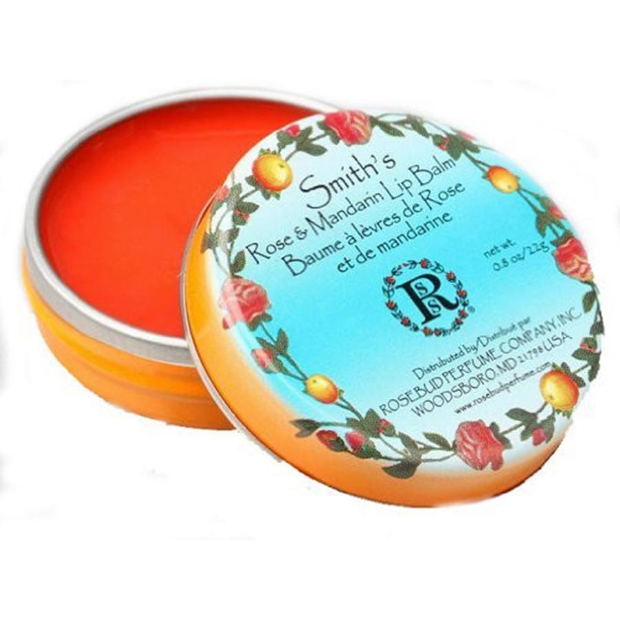 Rosebud Perfume Co Smith's Rose and Mandarin Lip Balm - 0.8 oz-Rosebud Perfume Co.-BeautyOfASite | Beauty, Fashion & Gourmet Boutique