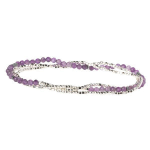 Scout Curated Wears Delicate Stone Wrap Bracelet/Necklace - Amethyst-Scout Curated Wears-BeautyOfASite | Beauty, Fashion & Gourmet Boutique