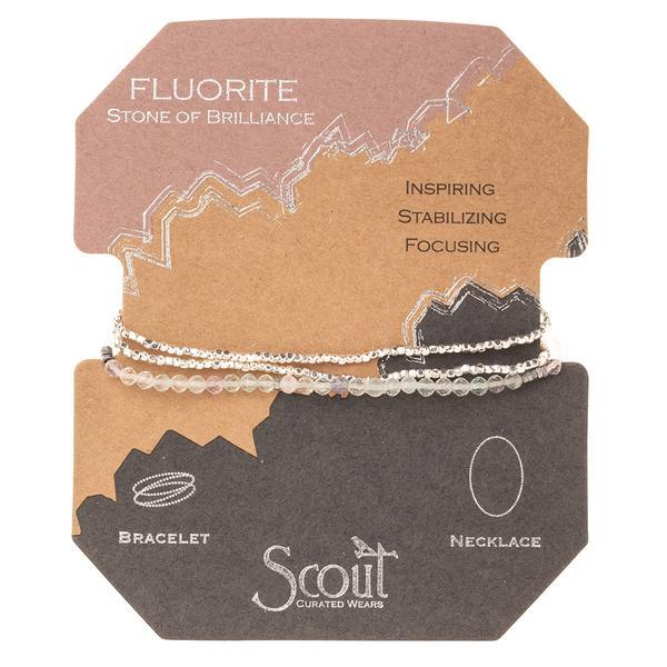 Scout Curated Wears Delicate Stone Wrap Bracelet/Necklace - Fluorite-Scout Curated Wears-BeautyOfASite | Beauty, Fashion & Gourmet Boutique