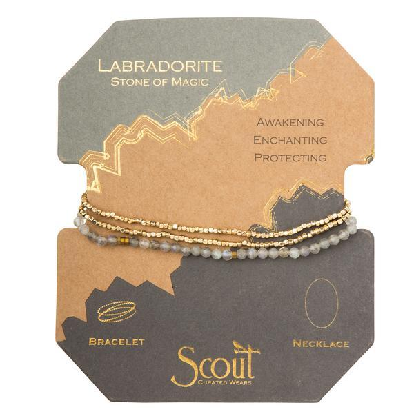 Scout Curated Wears Delicate Stone Wrap Bracelet/Necklace - Labradorite-Scout Curated Wears-BeautyOfASite | Beauty, Fashion & Gourmet Boutique