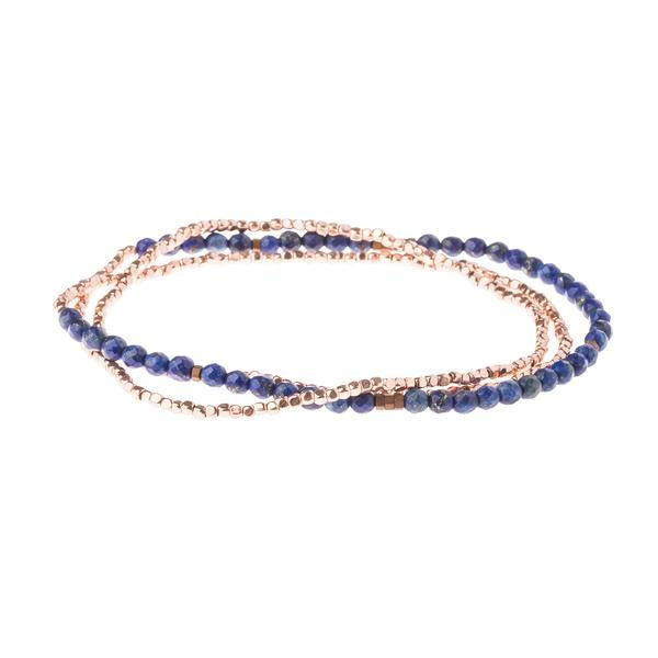 Scout Curated Wears Delicate Stone Wrap Bracelet/Necklace - Lapis-Scout Curated Wears-BeautyOfASite | Beauty, Fashion & Gourmet Boutique