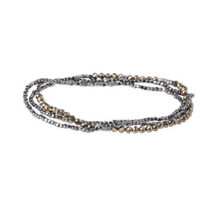 Scout Curated Wears Delicate Stone Wrap Bracelet/Necklace - Pyrite-Scout Curated Wears-BeautyOfASite | Beauty, Fashion & Gourmet Boutique