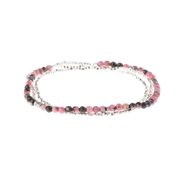 Scout Curated Wears Delicate Stone Wrap Bracelet/Necklace - Rhodonite-Scout Curated Wears-BeautyOfASite | Beauty, Fashion & Gourmet Boutique
