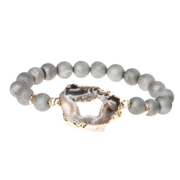 Scout Curated Wears Geode Stack Bracelet - Grey/Storm/Gold-Scout Curated Wears-BeautyOfASite | Beauty, Fashion & Gourmet Boutique