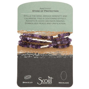 Scout Curated Wears Stone Wrap Bracelet/Necklace - Amethyst-Scout Curated Wears-BeautyOfASite | Beauty, Fashion & Gourmet Boutique