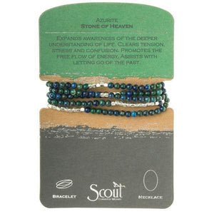 Scout Curated Wears Stone Wrap Bracelet/Necklace - Azurite-Scout Curated Wears-BeautyOfASite | Beauty, Fashion & Gourmet Boutique