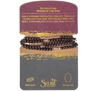 Scout Curated Wears Stone Wrap Bracelet/Necklace - Bloodstone-Scout Curated Wears-BeautyOfASite | Beauty, Fashion & Gourmet Boutique