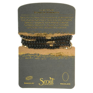 Scout Curated Wears Stone Wrap Bracelet/Necklace - Lava Stone-Scout Curated Wears-BeautyOfASite | Beauty, Fashion & Gourmet Boutique