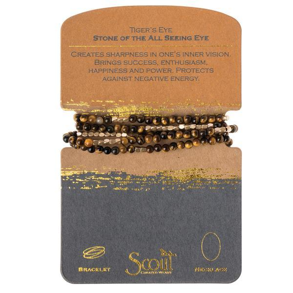 Scout Curated Wears Stone Wrap Bracelet/Necklace - Tiger's Eye-Scout Curated Wears-BeautyOfASite | Beauty, Fashion & Gourmet Boutique