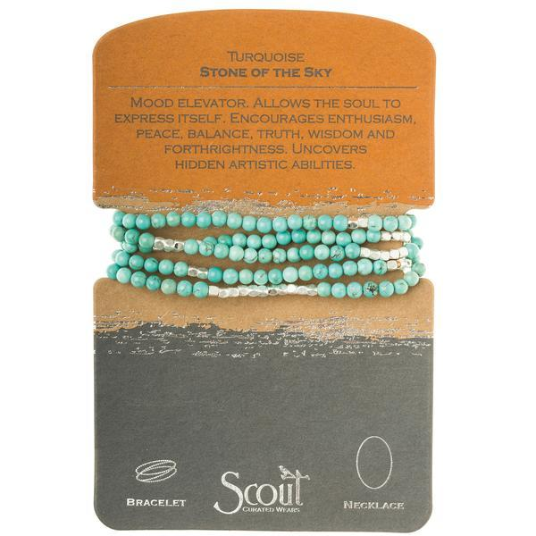 Scout Curated Wears Stone Wrap Bracelet/Necklace - Turquoise-Scout Curated Wears-BeautyOfASite | Beauty, Fashion & Gourmet Boutique
