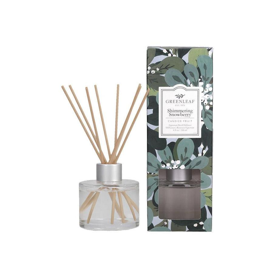 Greenleaf Signature Reed Diffuser - Shimmering Snowberry