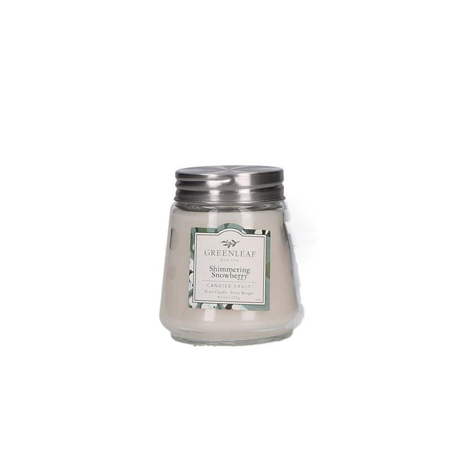 Greenleaf Petite Candle - Shimmering Snowberry