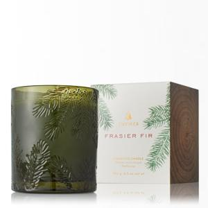 Thymes Frasier Fir Green Glass Candle-Thymes-BeautyOfASite | Beauty, Fashion & Gourmet Boutique