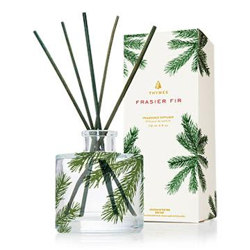 Thymes Frasier Fir Petite Pine Needle Reed Diffuser-Thymes-BeautyOfASite | Beauty, Fashion & Gourmet Boutique