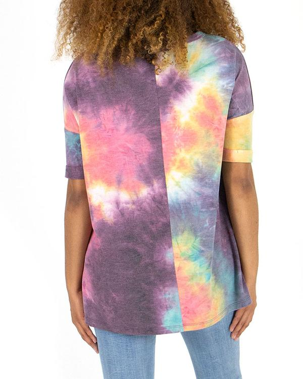 Grace & Lace Weekend Tee - Spring Tie-Dye