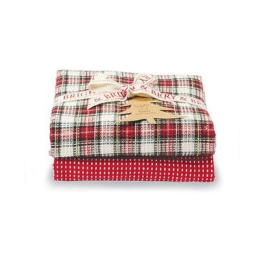 Mud Pie Tartan Dish Towel Set