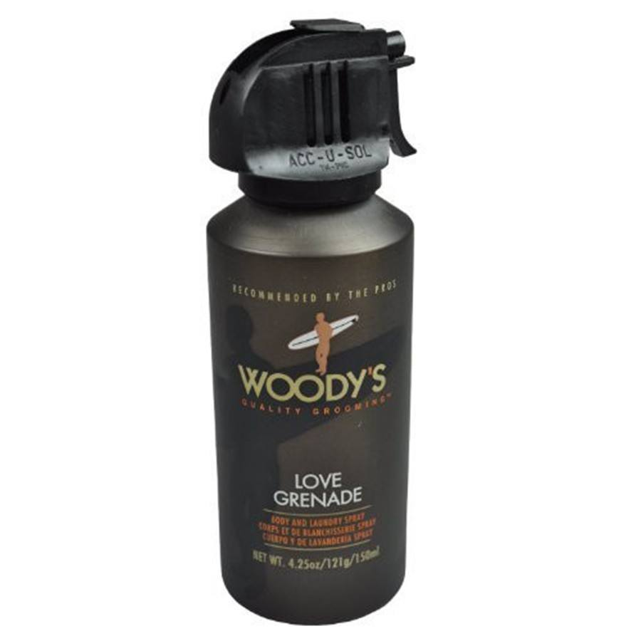 Woody's Quality Grooming Love Grenade Body and Laundry Spray - 4.25 oz-Woody's Grooming-BeautyOfASite | Beauty, Fashion & Gourmet Boutique