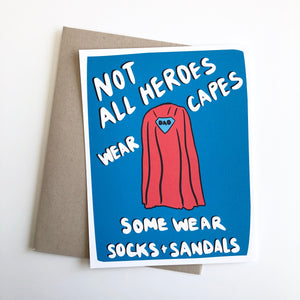 Not all Heros Wear Capes Fathers Day Card for Dad