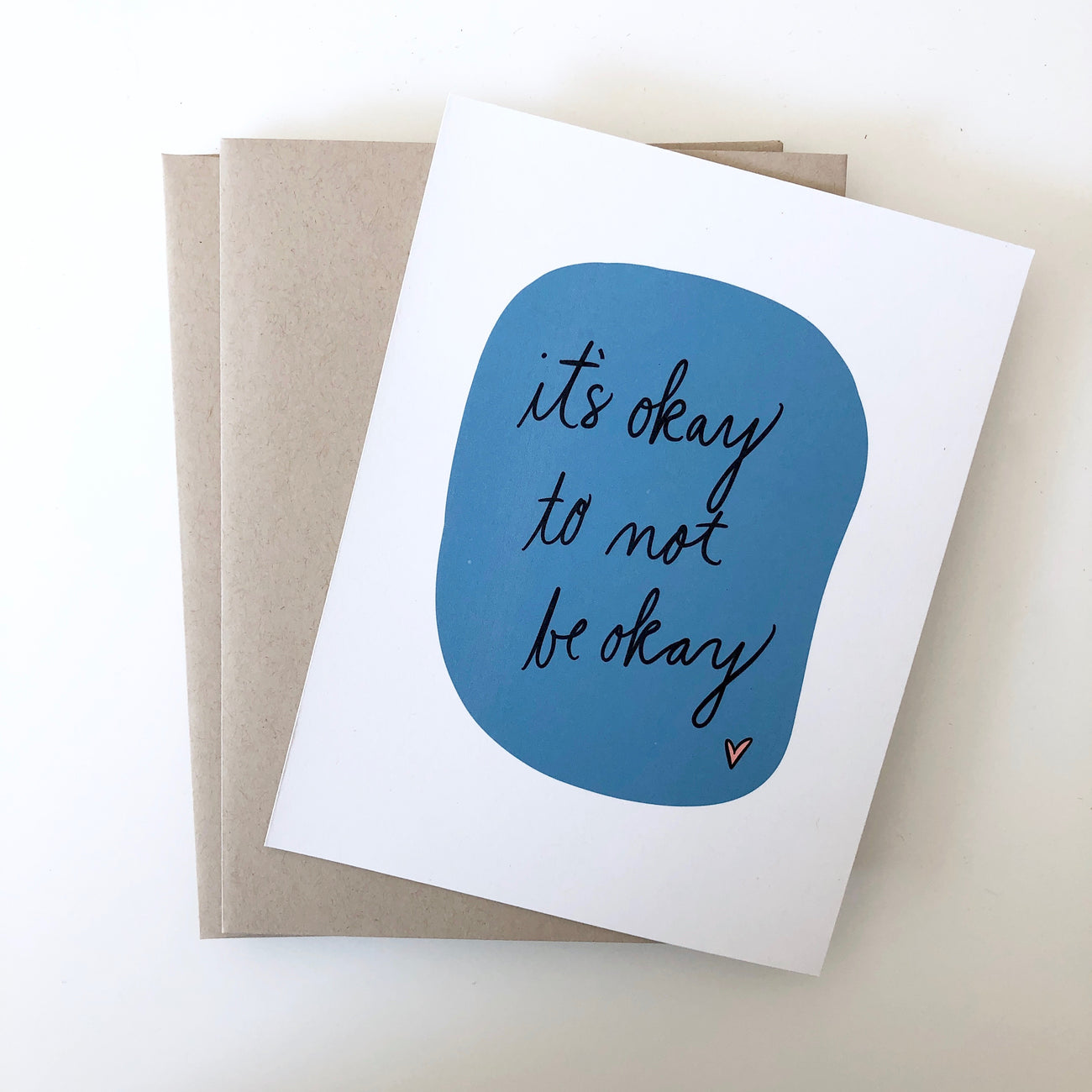 It's okay to not be okay card